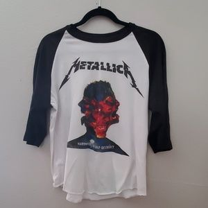 Other - Rare Metallica World Tour Baseball Tee